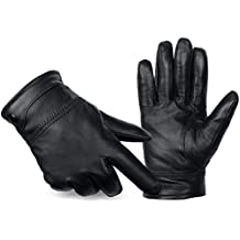 ANVEY guantes de hombre para invierno de mejor genuino mejor cuero forro  cachemira d3b12115d74