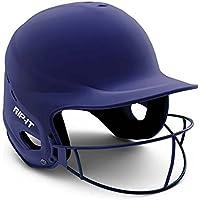 RIPIT Vision Pro - Casco de Softball - VISJ-M-N, S/M, Azul Marino Mate