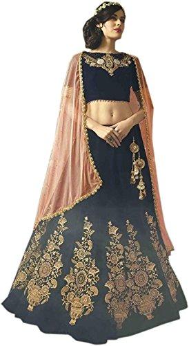 ClassyFashion Women's Ethnic Wear Taffeta Silk Semi-stitched Party/Regular Wear Dress Material/Salwar Suits/Salwar Suits sets(FreeSize_RedColor)