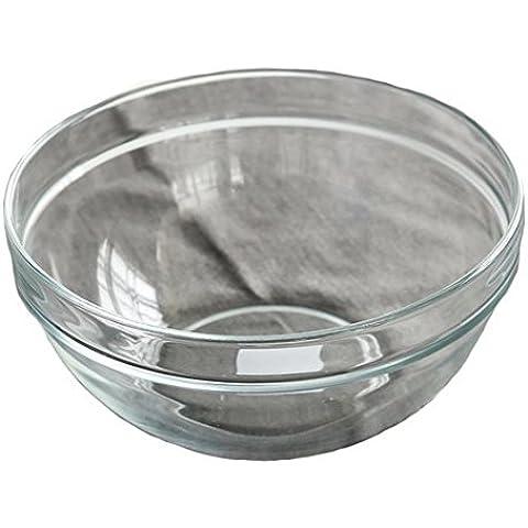 Yifom Creative Insalatiera trasparente Dimensioni vetro senza piombo coppette, bocce,20cm