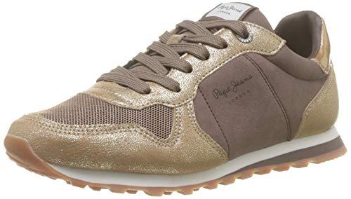 Pepe Jeans London Verona W Twin, Zapatillas para Mujer, (Gold 099), 36 EU