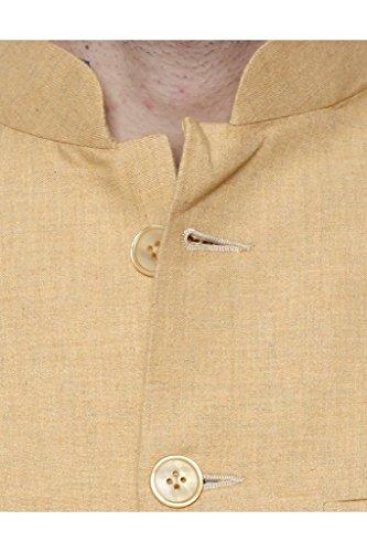 Dhrohar-Khadi-Mustard-Yellow-Chinese-Collar-Waistcoat-for-Men