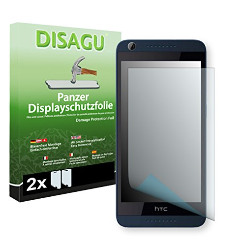 HTC Desire 626G Dual Sim Displayschutzfolie - 2 x Disagu Panzerfolie für HTC Desire 626G Dual Sim Bruchschutzfolie