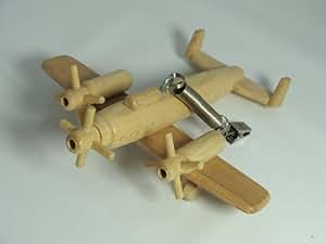 Mobile Avion en bois avec ressort pour suspension - artisanat Français