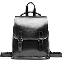 29ca9d95646f2 Yoome Vintage Öl-Wachs Leder Rucksack Multifunktions Geldbörse für Frauen  Schultasche für Mädchen ...