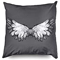Beach345sley Throw Pillow Case 16 x 16,Angel Wings Cushion Decorative Throw Pillow Cover,Pillow Cases Cushion Cover For Home Sofa Bedding