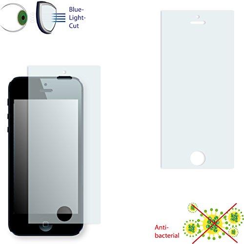 Apple iPhone 5 / Apple iPhone SE Displayschutzfolie - 2x DISAGU ClearScreen Schutzfolie für Apple iPhone 5 / Apple iPhone SE anti-bakteriell, Blaulicht-Filter