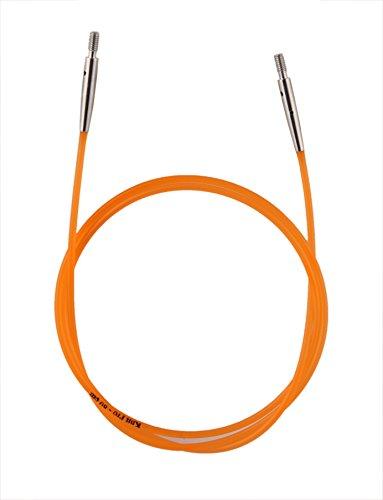 Knit Pro Color Coded Cable, plástico, Naranja, 56cm