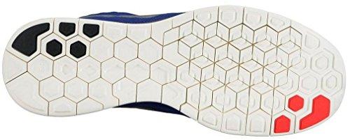 Nike Free 5.0 Flash Herren Laufschuhe Azul / Naranja / Plata / Negro (Dp Ryl Bl / Rflct Slvr-Blk-Ttl C)