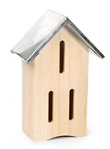 Schmetterlingshaus Schmetterlingskasten aus Holz mit Metalldach Dekohaus