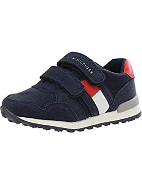Tommy Hilfiger T1B4-30075-0315 Blue Eco Nubuck Infant Trainers