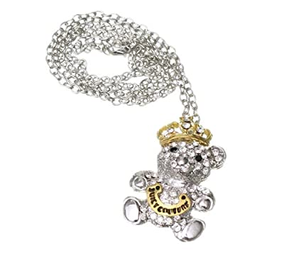 Eozy Retro Metal Diseño Oso Imperial Corona Collar Colgante Con Cadena Para Camiseta de Eozy