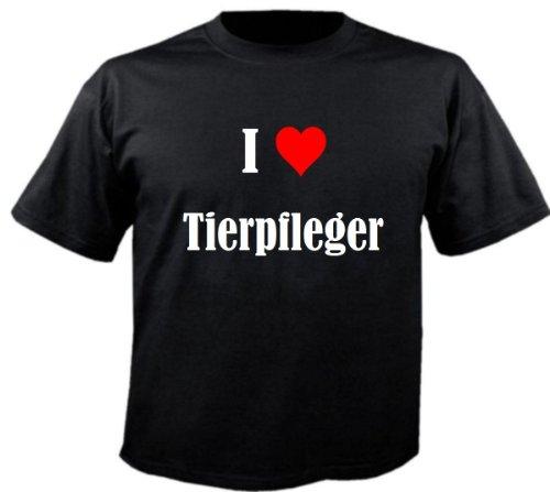 """T-Shirt """"I Love Tierpfleger"""" für Damen Herren und Kinder ... in der Farbe Schwarz Schwarz"""