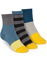 ThokkThokk 3er Pack Mid-Top Socken Triple Striped/Tape/Triple GOTS Fairtrade
