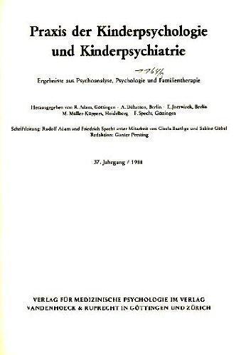 Praxis der Kinderpsychologie und Kinderpsychiatrie.