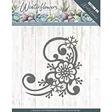 Stanzschablone - Precious Marieke - Winter Flowers - Schneeflocken Blume Ecke
