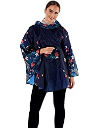 Womens ProClimate Shower Proof Poncho Ladies New Festival Hooded Coat in A  Bag 0c630254daa61