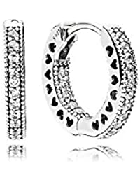 Pandora Women Silver Hoop Earrings - 296317CZ
