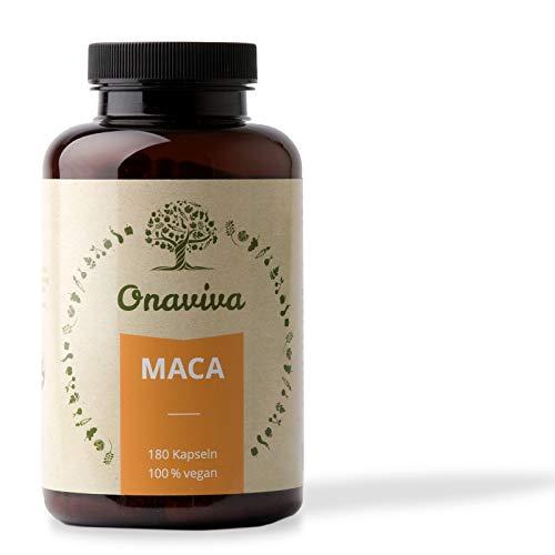 Maca Kapseln | Hochdosiert 3000 mg Bio Maca Pulver pro Tagesdosis | 180 Kapseln | Vegan | Potenz & Libido | Nahrungsergänzung in geprüfter Qualität aus Deutschland