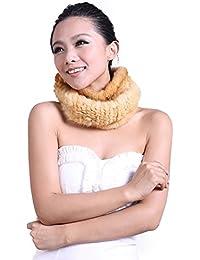 URSFUR de punto visón piel cubierta/Snood bufanda diseño Tribal