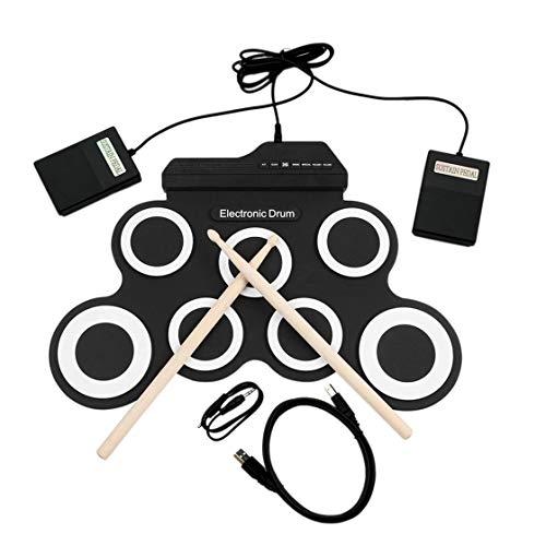 Laurelmartina Batería electrónica USB Drum G3002 Drum Kit Drum Set Instrumento de percusión para...