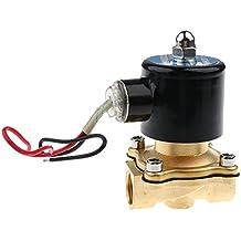 12V DC 1/2pulgadas latón Solenoide Electroválvula para Aire Agua Gas Normal Cerrado