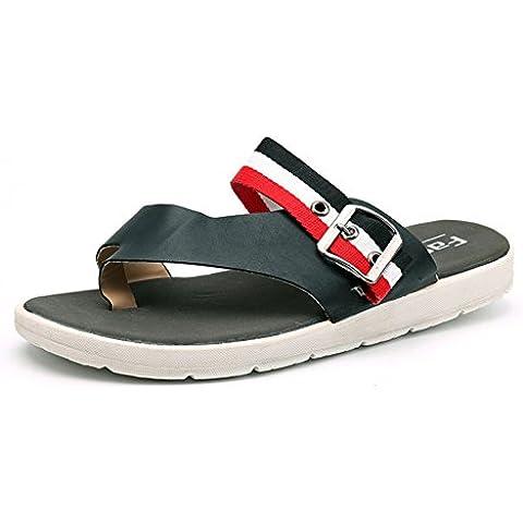 pantofole maschio/sandali estivi/Nuove infradito uomo/Versione coreana delle scarpe di pizzico/sandali