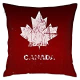TOHWRP Kanada Flagge Dekorativ Überwurf Kissen Kunst Druck Couch Kissenbezug Kissenbezug 45x45cm