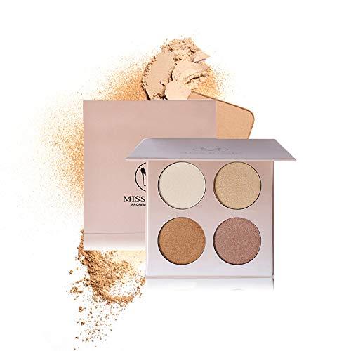 Goodsv Professional Glowing 4 Colors Shimmer Lidschatten Make-up Langlebige Nude Eyes Pigment Mineral Lidschatten-Palette -
