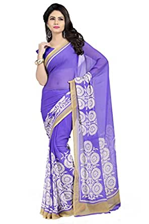 Vaamsi Synthetic Saree with Blouse Piece (Rolex3047_Blue_One Size)