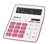 Genie 840 P 10-stelliger Tischrechner (Dual-Power (Solar und Batterie), kompaktes Design) pink
