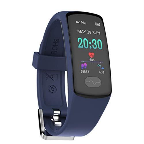 RHBKW Fitness Tracker IP67 Wasserdicht Sport,Touchscreen-Smartwatch mit Herzfrequenz Schlaf Monitor Fitness Uhr mit Schrittzähler Kompatibel mit Android iOS zum Laufen,Blue