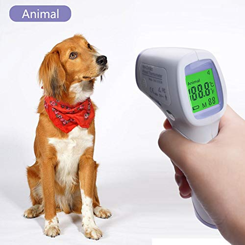 PAN Pet Products Digitales Thermometer für Haustiere, elektronisch, kontaktloses Thermometer, Infrarot-Thermometer -