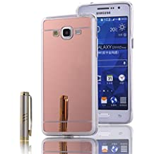 Funda Samsung Galaxy Grand Prime, LXHGrowH [Ultra Delgada] Carcasa con espejo para Samsung Galaxy Grand Prime Cover silicona tpu protectora Rosado - LXHGrowH Cubierta