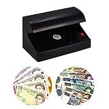 aibecy Portable Desktop Multi de currency-Detector de billetes falsos Dinero Falso Banco Ordenador Comprobador Tester único UV de luz de ENCENDIDO/apagado con interruptor para Euro Pound