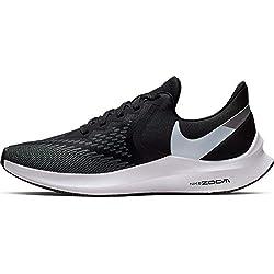 Nike WMNS Zoom Winflo 6, Chaussures d'Athlétisme Femme, Multicolore (Black/White/Dark Grey/MTLC Platinum 3), 38 EU