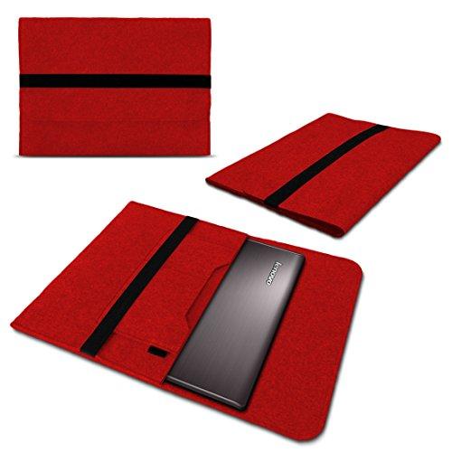 NAUC Sleeve Tasche für Lenovo ThinkPad X1 Carbon 2017 14' Hülle Filz Case Notebook Cover, Farben:Rot