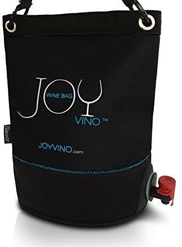 Weintasche und Getränkespender - Weintüte 3L für das Bag-In-Box - Einfach zu Handhabende Inner Tasche - Perfekt Egal ob Drinnen oder Draußen und Für Jedes Getränk: Wein, Sangria und Saft (Schwarz)
