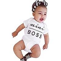 Bekleidung Longra Neugeborene kleidet Baby Mädchen Bodysuit Spielanzug Overall Ausstattung Strampler Outfits(0 -24 Monate)