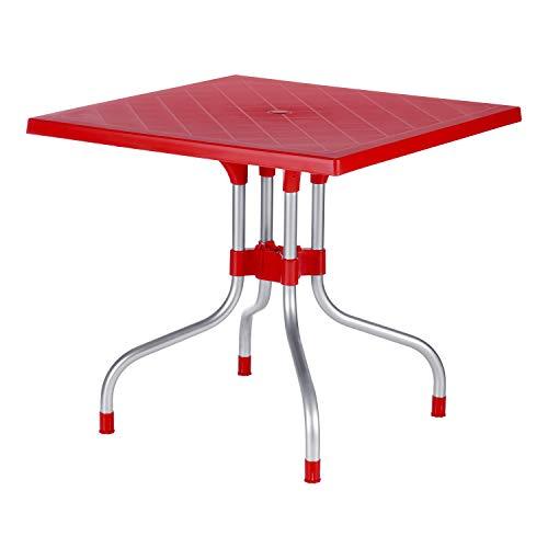Supreme Olive Plastic Dinning Table (Coke Red)