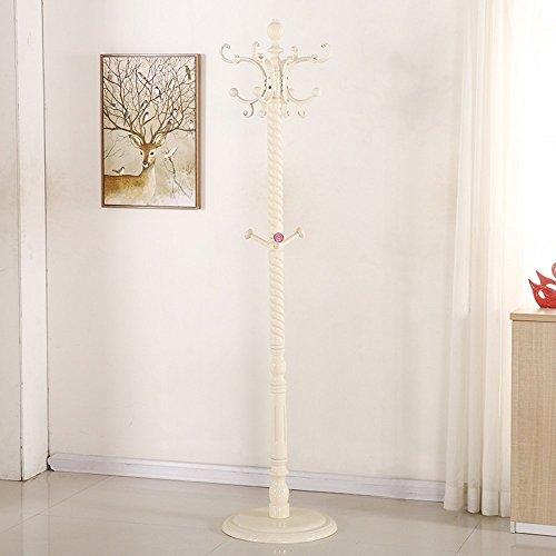 HOMEE Europäische kreative Boden Massivholz Garderobe Schlafzimmer Wohnzimmer einfache moderne Hängetasche Kleiderbügel (mehrere Stile zur Verfügung),# 14 (Ferse 14 Quadratische)