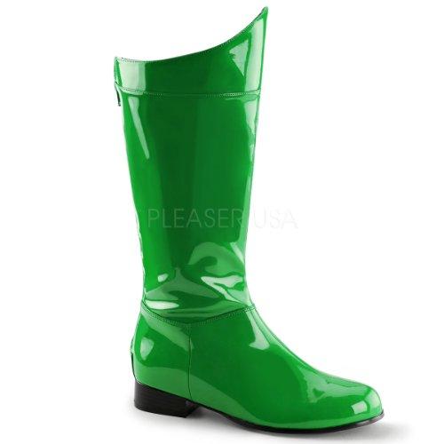 Funtasma Superhelden-Kostümstiefel Hero-100 Lack grün - Superhelden-stiefel Grüne