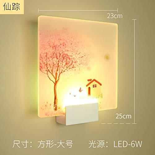 Moderner Schöneza romántica imagen clásico lámpara de pared para cama dormitorio escalera corredor porche nórdicos LED iluminación hogar I