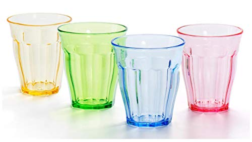 8bde21d3234 10 oz Plastic Tumblers Acrylic Drinking Glasses Kids Plastic Cups Children's  Water Glassware Colored Adults Picnic Drinkware for Cocktail Juice Beer Wine  ...