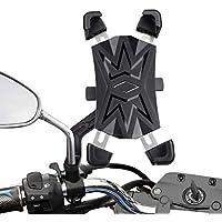 """HASAGEI Soporte Movil Moto Deportiva para 4.5"""" -7.2"""" Smartphones Anti Vibración Soporte Movil para Moto 360° Rotación (Estilo-B para el retrovisor Moto)"""