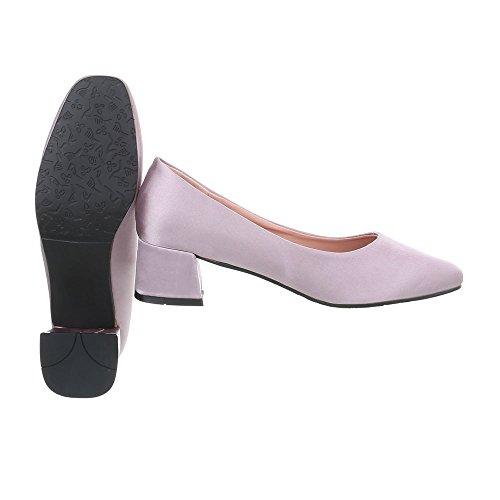 Ital-Design Scarpe da Donna Scarpe Col Tacco Tacco Gattino Classico Scarpe Col Tacco Viola