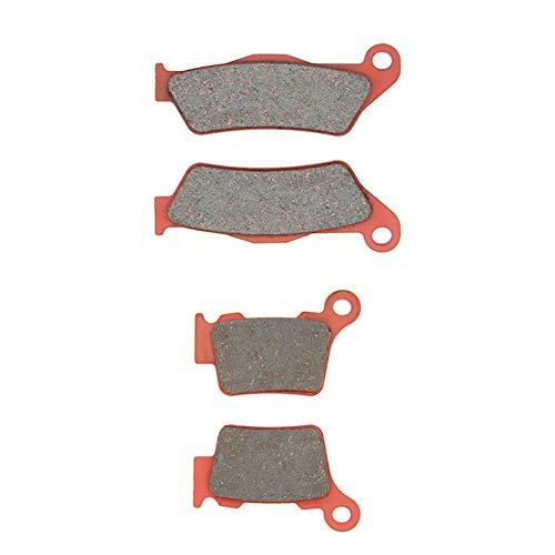 MEXITAL Pastiglie freno Ceramica organico Anteriori + Posteriore per EXC 125 300 450 500 Six Days (11-18) / EXC 400 450 Racing (04-07) / EXC 125 200 (04-18) / EXC-F 250 (06-18)