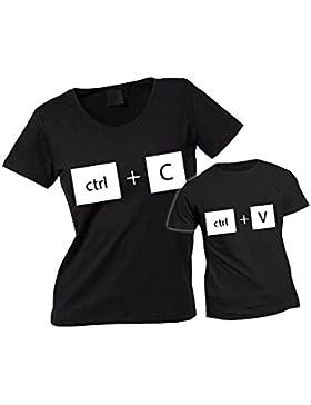 Altra Marca Coppia di T-Shirt Personalizzate per Madre e Figlio Magliette per la Festa della Mamma Copia Incolla