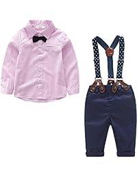 ab6aaeaeefecd Yilaku Bebés Juego de Ropa Camisas y Pantalones Conjunto para Bebé Niño