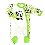 Baby Sweets Baby Strampler Mädchen/Jungen beige grün | Motiv Happy Panda | 100% Bambus Material für Neugeborene & Kleinkinder | Größe: 1 Monate (56)